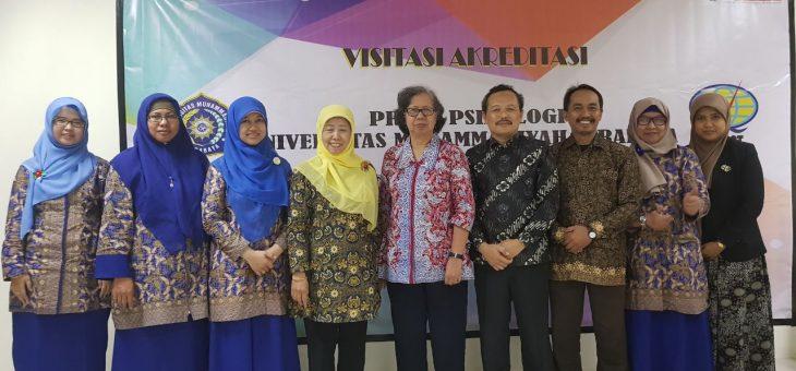Visitasi Akreditasi Fakultas Psikologi Universitas Muhammadiyah Surabaya